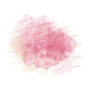 Розовая и желтая акварель окрашенные пятно изоляции