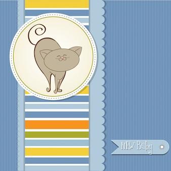 猫の赤ちゃんのアナウンスカード