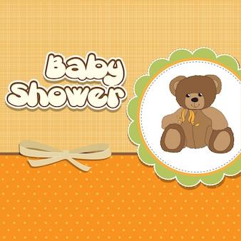Карточка с детским душем с плюшевым