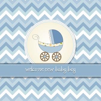 赤ちゃんと赤ちゃんのアナウンスカード