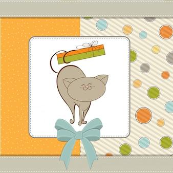 С днем рождения с милой кошкой