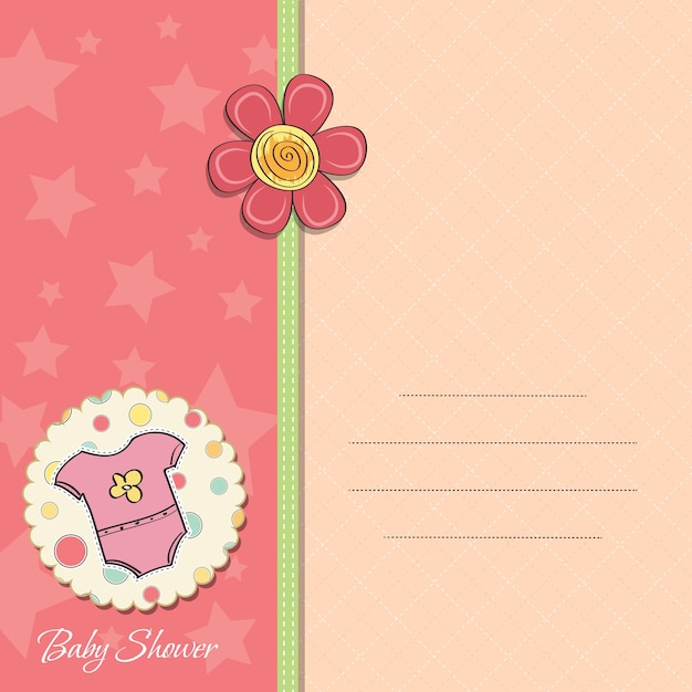 新しい赤ちゃんの女の子発表カード