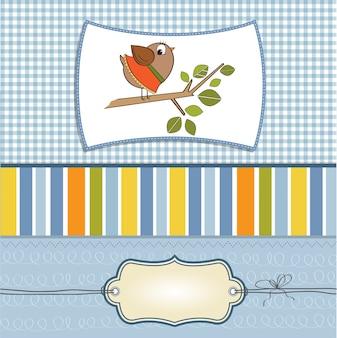 Романтическое приветствие смешной маленькой птицей