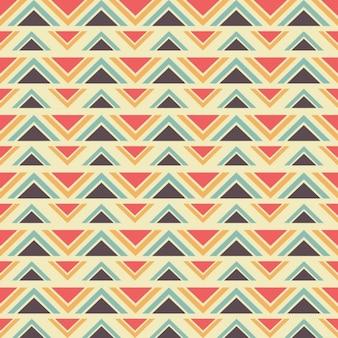 シームレスな幾何学的なエスニックパターン
