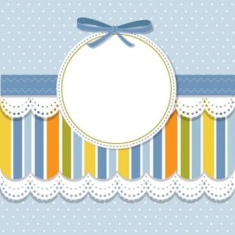 Прохладный шаблон дизайн рамы для поздравительной открытки