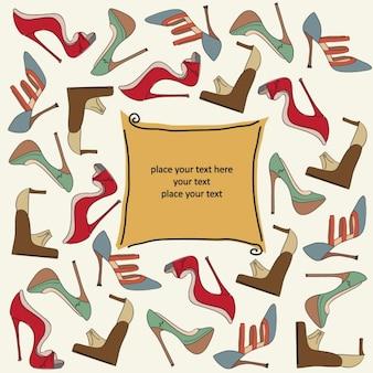 靴のパターンとテンプレート