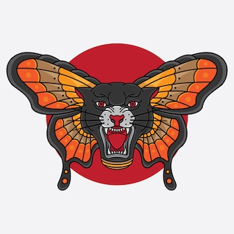 伝統的な黒豹の羽