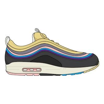 ベクトルの靴デザインスニーカー