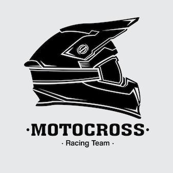 Дизайн логотипа шлемы мотокросс