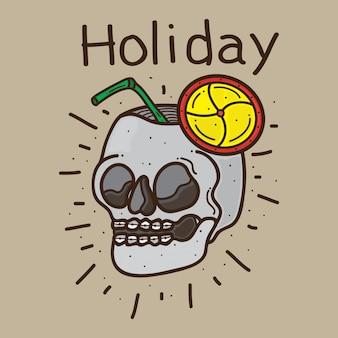 頭蓋骨デザインの休日