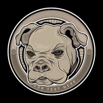 Голова собаки животное