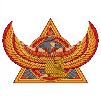 イシス女神のタトゥーのデザイン