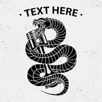Змеино-поршневой дизайн рубашки