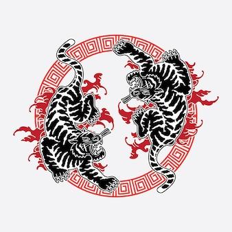 Тату тигр дизайн татуировки