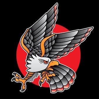 Дизайн татуировки орел старой школы