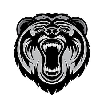 Голова медведя логотип