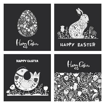 復活祭の卵との民芸セット