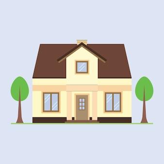 家のベクトル図です。