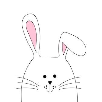 手描きのイースターのウサギ