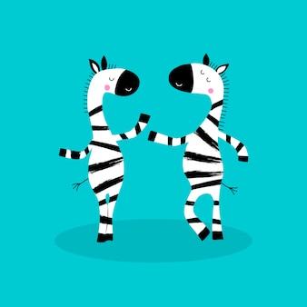 Мультипликационный персонаж зебр.