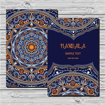 マンダラとカード。