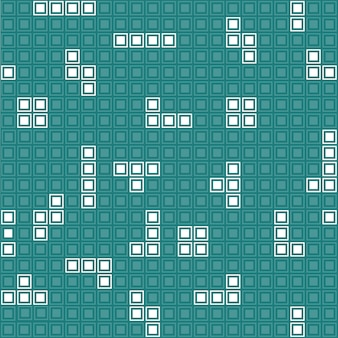 シームレスパターンレトロゲームモザイク組み立てユニット