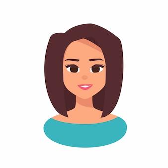 Улыбающаяся девушка аватар