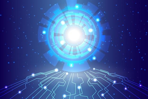 抽象的な技術背景こんにちはハイテク通信デジタル背景