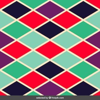 カラフルな菱形パターン
