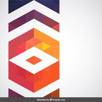 幾何学的なテラコッタ色の装飾