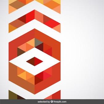 テラコッタの色調の幾何学的な装飾