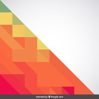 テラコッタ色の三角形と背景