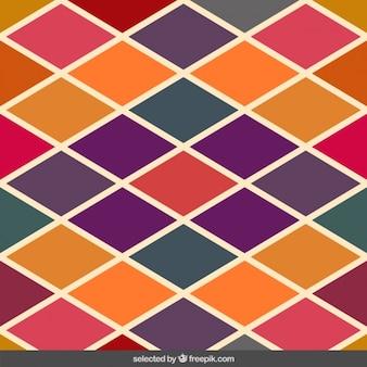 レトロな色菱形パターン