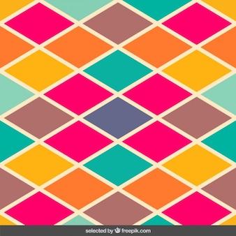 ヴィンテージ色菱形パターン