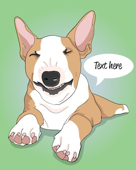 Рисованной классная собака иллюстрация