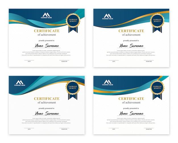 Набор шаблонов дизайна сертификатов