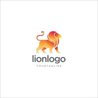 モダンなライオンのロゴ