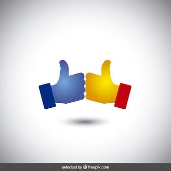 Логотип с два больших пальца вверх