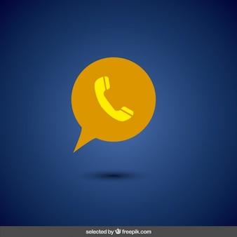 黄色の電話のアイコン