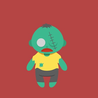 Вектор символа зомби