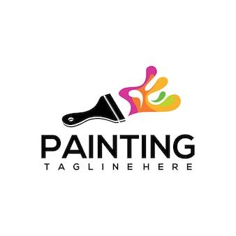 ロゴの塗装