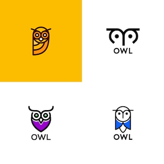シンプルなフクロウのロゴ