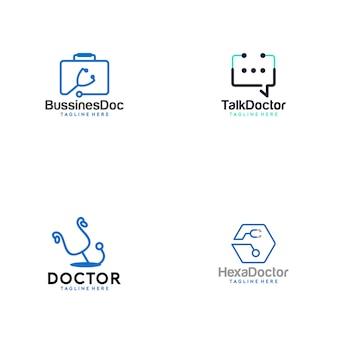 Доктор медикал логотип коллекция