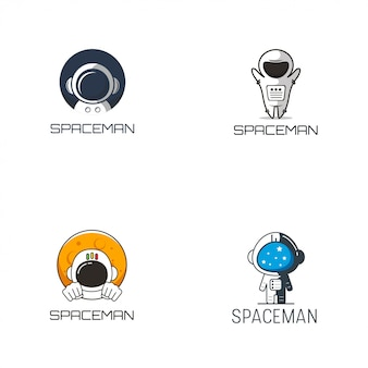 宇宙飛行士のロゴデザイン