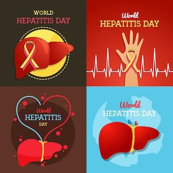 世界肝炎デーイラスト