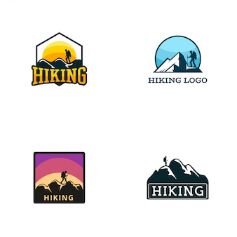 Шаблон логотипа для пеших прогулок