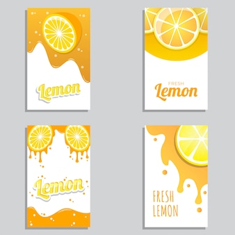 フレッシュレモンジュースバナーデザインベクトル