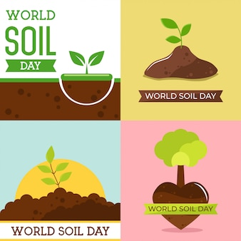 世界の土壌の日デザインベクトルイラスト