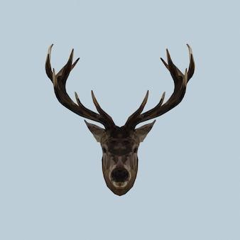 鹿の低ポリ