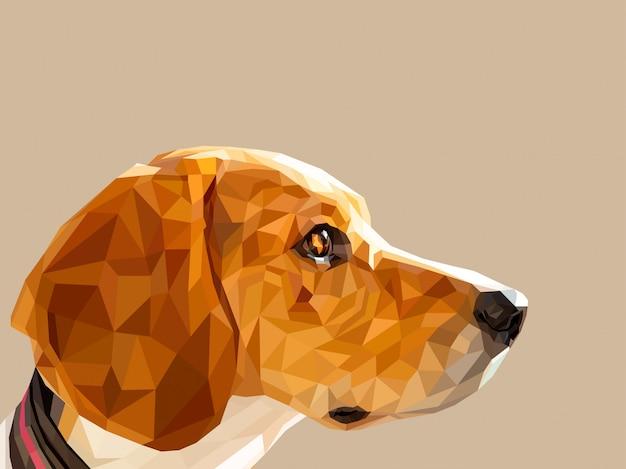 低ポリアート犬